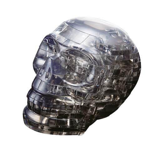 3D Crystal Puzzle - Schädel schwarz 49 Teile
