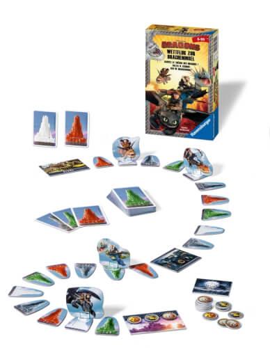 Ravensburger 233991  Dreamworks Dragons Wettflug Dracheninsel Mitbringspiel