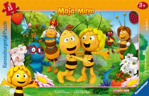 Ravensburger 06121 Rahmenpuzzle Biene Majas Welt 15 Teile
