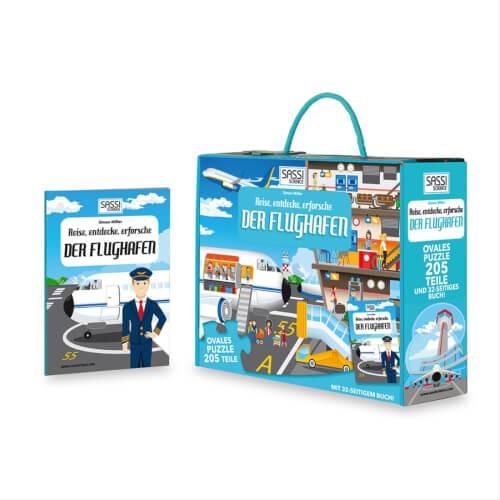 Puzzle Bodenpuzzle Der Flughafen 205 Teile inklusive Begleitbuch