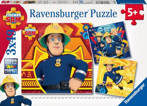 Ravensburger 09386 Puzzle Bei Gefahr Sam rufen 3 x 49 Teile