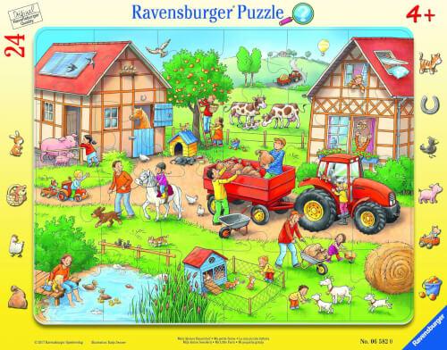 Ravensburger 06582 Rahmenpuzzle Mein kleiner Bauernhof 24 Teile