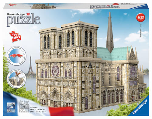 Ravensburger 12523 Puzzle 3D Notre Dame 216 Teile