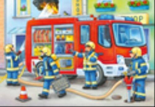 Ravensburger 05613 Puzzle Die Feuerwehr saust herbei 12 Teile