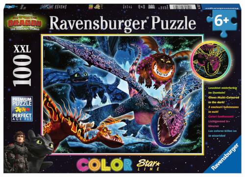 Ravensburger 13710 Puzzle Leuchtende Dragons 100 Teile XXL