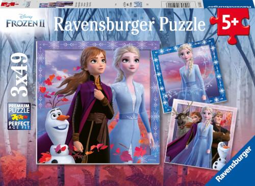 Ravensburger 05011 Puzzle: Disney Die Eiskönigin 2 Die Reise beginnt  3x49 Teile