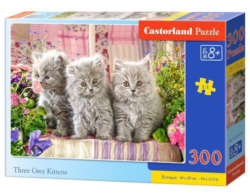 Castorland Three Grey Kittens, Puzzle 300 Teile