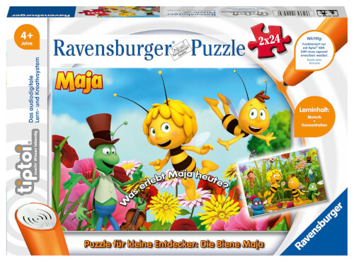 Ravensburger 00047 tiptoi® Puzzle für kleine Entdecker: Biene Maja 2x24 Teile