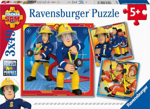 Ravensburger 05077 Puzzle Unser Held Sam 3x49 Teile