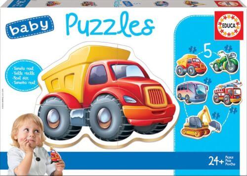 Educa - Baby Puzzles Vehicles 2x2/2x3/4 Teile