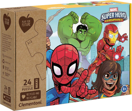 Clementoni Puzzle Maxi Play for Future - Marvel Superhelden 24 Teile