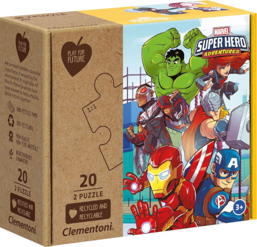 Clementoni Puzzle Play for Future - Marvel Superhelden 2 x 20 Teile