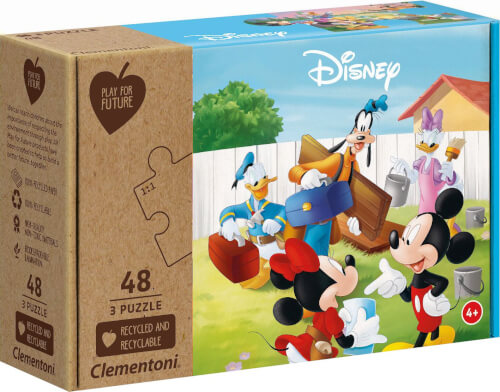 Clementoni Puzzle Play for Future - Mickey Mouse 3 x 48 Teile
