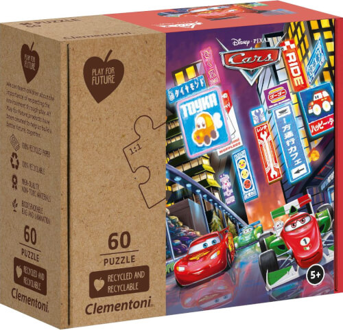 Clementoni Puzzle Play for Future - Cars 60 Teile