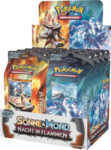Pokémon Sonne & Mond 03 Nacht der Flammen Themendeck, sortiert