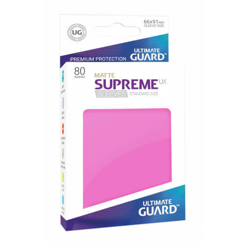 80 Karten-Schutzhüllen (Sleeve), 66x91 mm (Standard), pink