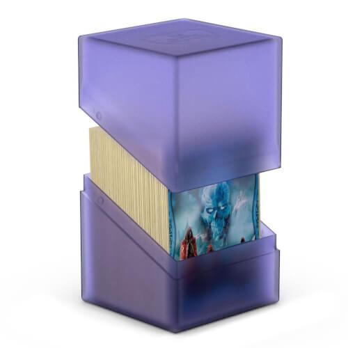 Kartenbox für 80+ Karten in Standardgröße (66x91 mm), amathyst