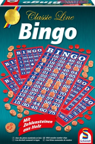 Schmidt Spiele 49089 Classic Line Bingo, 2 bis 99 Spieler, ab 8 Jahre