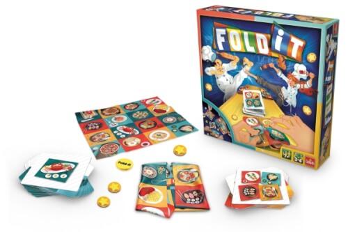 Fold-it, Familienspiel, bis zu 4 Spieler, ca. 20 min, ab 7 Jahren