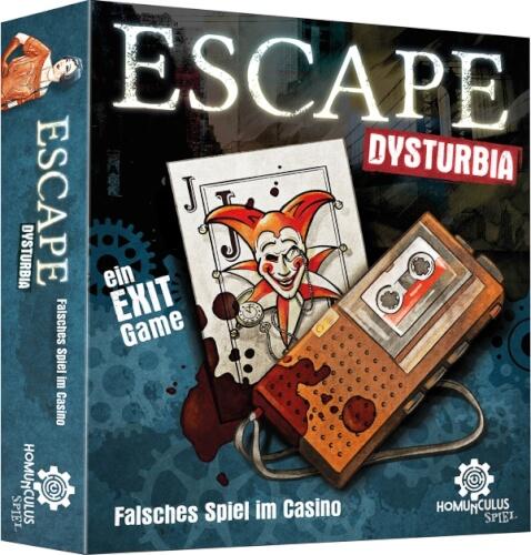 ESCAPE Dysturbia: Falsches Spiel im Casino. Exit Game für zu Hause