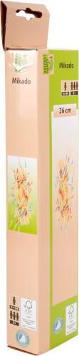 Natural Games Mikado Bambus, Länge ca. 26 cm, Geschicklichkeitsspiel, ab 2 Spieler, 41-teilig, ab 5 Jahren