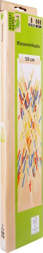 Natural Games Riesenmikado, Länge ca. 50 cm, Geschicklichkeitsspiel, ab 2 Spieler, 41-teilig, ab 5 Jahren