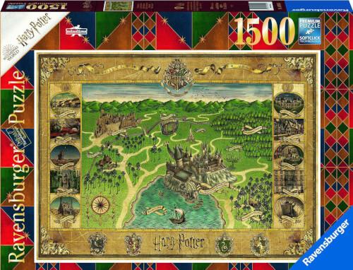 Ravensburger 16599 Puzzle Hogwarts Karte 1500 Teile