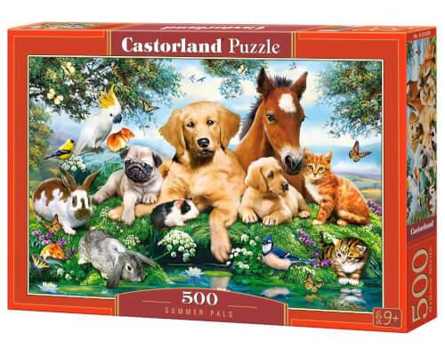 Glow2B Castorland Summer Pals, Puzzle 500 Teile