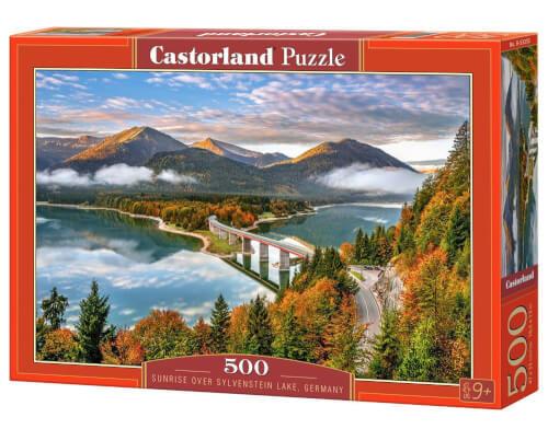 Glow2B Castorland Sunrise over Sylvenstein Lake, Germany, Puzzle 500 Teile