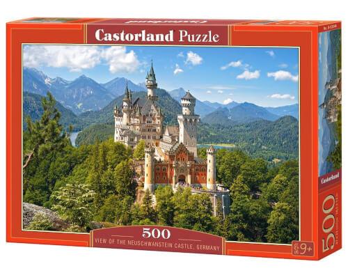 Glow2B Castorland View of the Neuschwanstein Castle, Germany, Puzzle 500 Teile