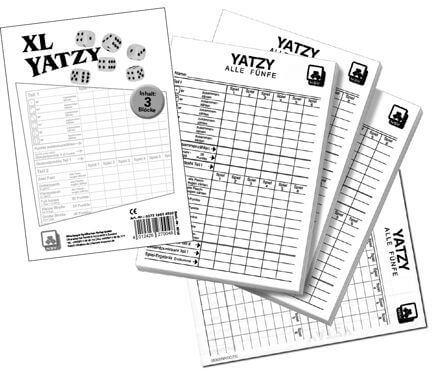 NSV Yatzy -eXtra cLassic- Spielblöcke 3er Pack