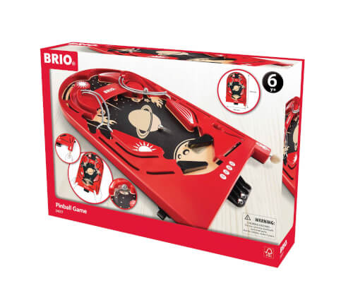 BRIO 63401700 Holz-Flipper Space Safari, ab 3 Jahren, Holz