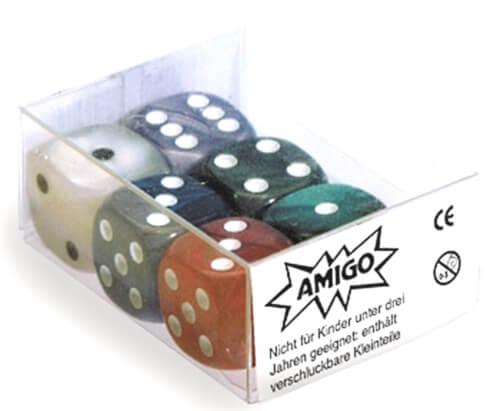 AMIGO 00061 Würfel Perlmutt W 6 Set gemischt