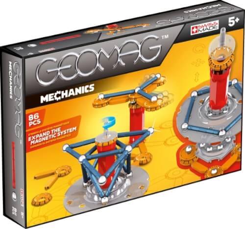 Geomag Mechanics - Magnet-Konstruktions-Set, 86-teilig, Kunststoff/Metall