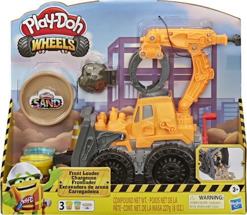 Hasbro E92265L0 Play-Doh Wheels Frontlader mit Sandknete