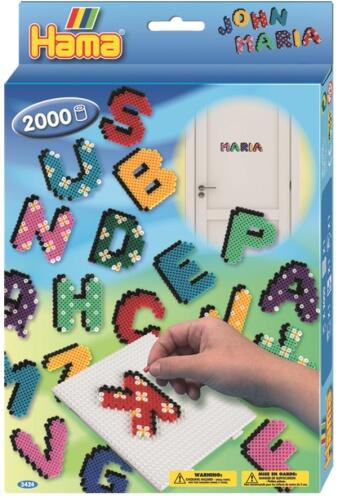 Hama® Bügelperlen Midi - Geschenkpackung Buchstaben - 1 Stiftplatte großes Vierec
