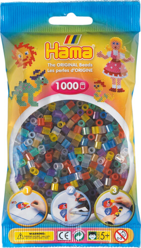 Hama® Bügelperlen Midi - Transparent Mix 1000 Perlen