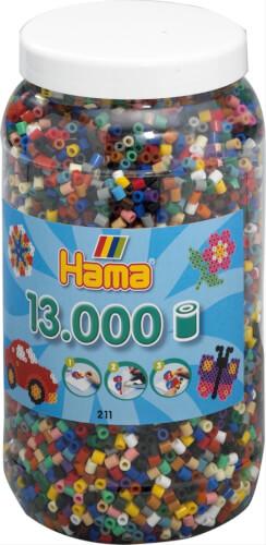Dose mit 13000 Perlen, Volltonmix