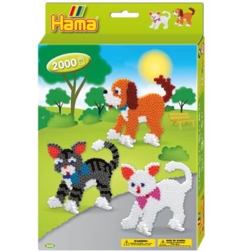 Hama® kleine Geschenkpackung Hund & Katze 2.000 Stück