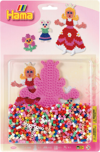 Hama® Stiftplatte+Perlen Prinzessin, 1.100 Stück