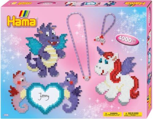 Hama® Geschenkpackung Drachenfreunde mit 4.000 Perlen