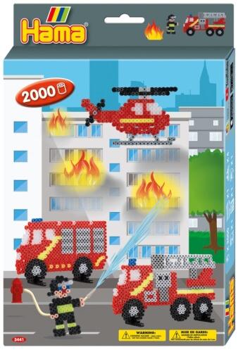 Hama® Bügelperlen Geschenkpackung Feuerwehr 2.000 Stück