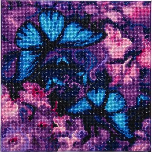 Crystal Art Leinwand Schmetterlinge 30x30 cm