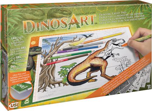 Dino Leuchtpad zum Nachzeichnen
