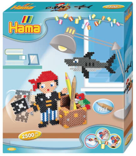 Hama® midi Bügelperlen Geschenkbox Piratenspaß
