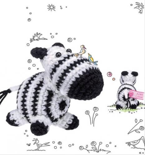 TOPP - Häkelset Wollowbies Zebra Zamonius