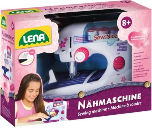 LENA Kinder Nähmaschine inkl. Zubehör, ab 3 Jahre