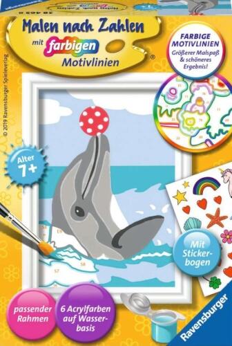 Ravensburger 28465 Malen nach Zahlen Delfin