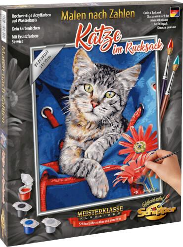 Malen nach Zahlen - Katze im Rucksack