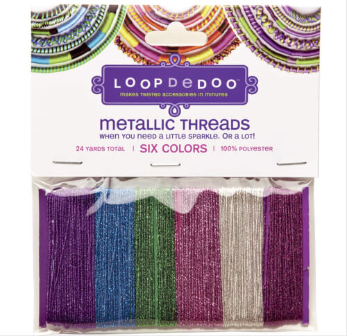 LoopDeDoo Metallic Thread 6 Farben # 4 m
